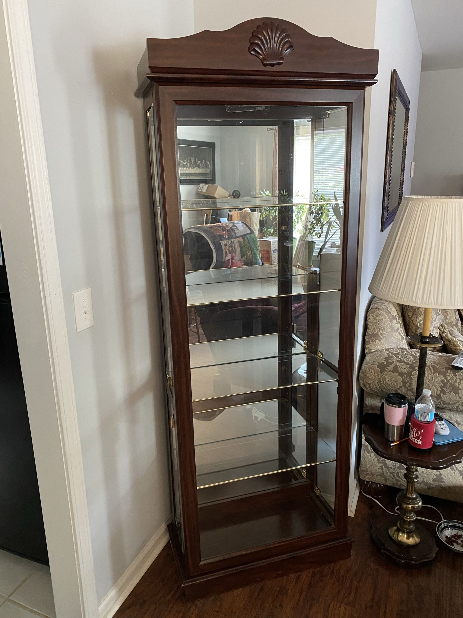 Living Room Set: End Table, Coffee Table, & China Cabinet