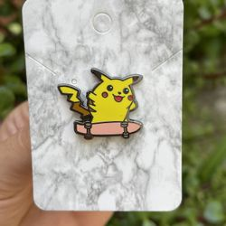 Skateboarding Pikachu Pokemon Pin Thumbnail