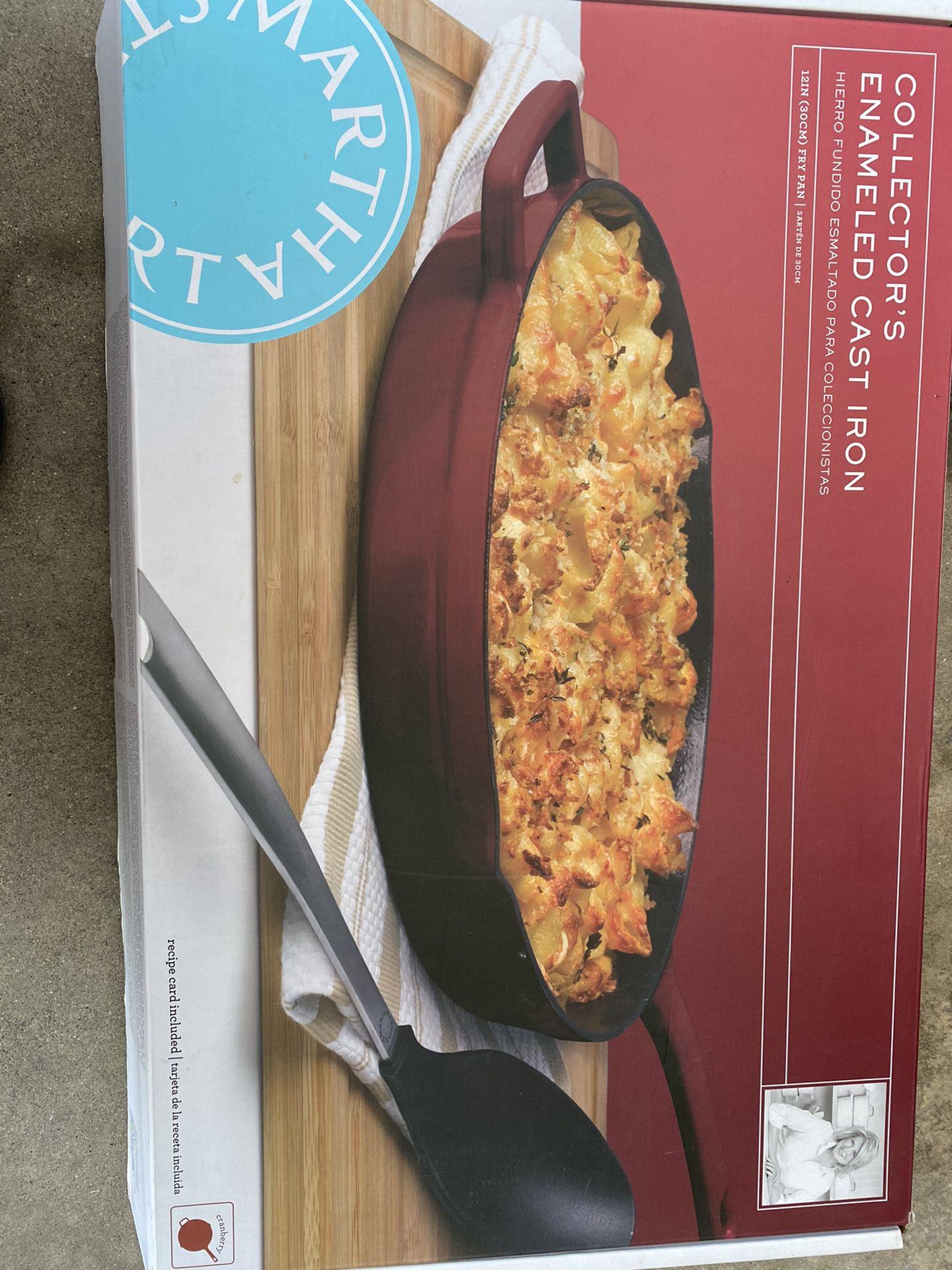 New Martha Stewart cast iron fry pan
