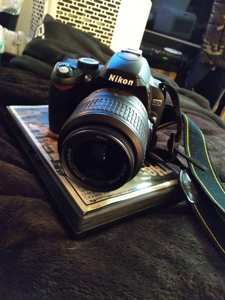 Nikon D60 with Nikon DX lense