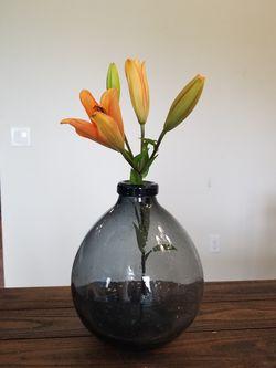 Blue-Gray Flower Vase Thumbnail