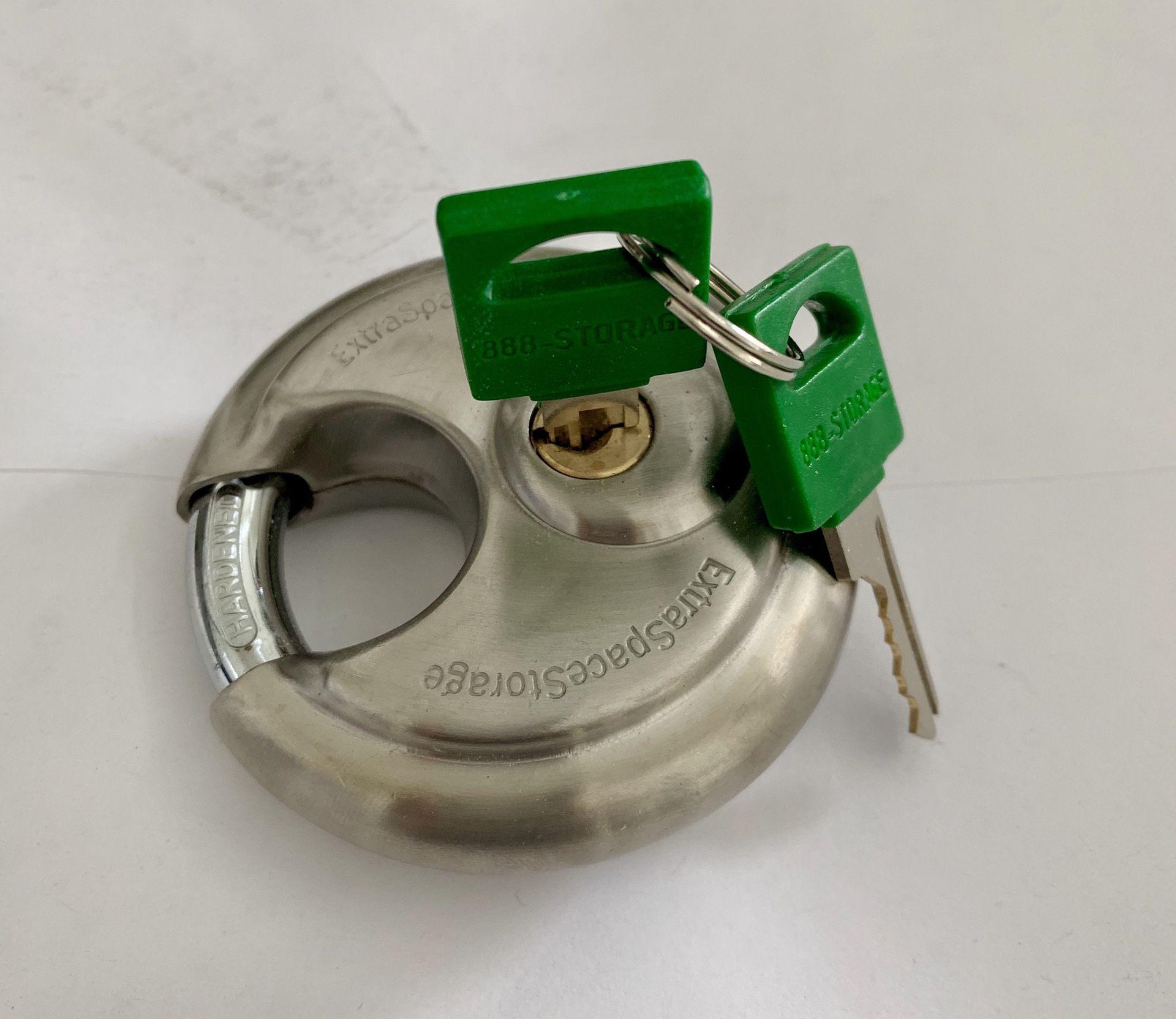 Padlock - Storage unit LOCK - used at ExtraSpace or U-Hall storage units - keyed lock