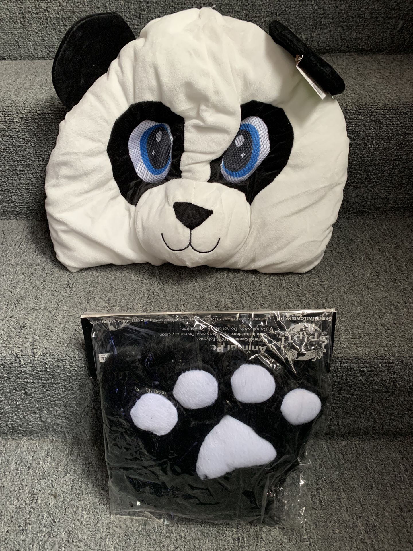 Halloween Panda Head Mask Costume
