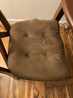 Brown High top Table And 2 Additional Ikea Chairs  Thumbnail