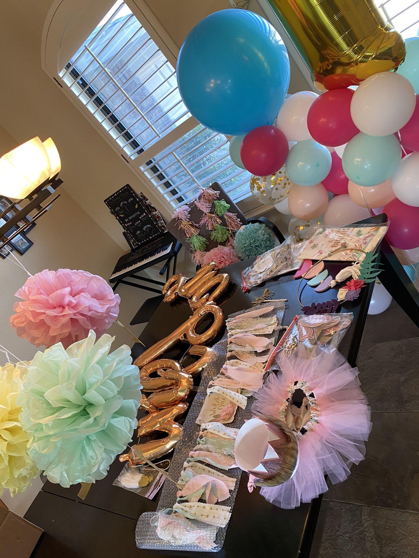 Wild ONE girls birthday decorations