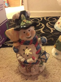 Snowman Christmas decorations. $25 for all! Thumbnail