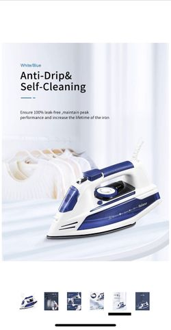 Yabano Steam Iron, Professional Iron for Clothes with Non-Stick Soleplate, Anti-Drip, Anti-Calc, Variable Temperature and Steam Control, Axial Aligned Thumbnail