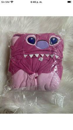 Blau Pink Stich Onesiee Kigurumi Kostüm Kapuzenpullover Pyjama Body Thumbnail