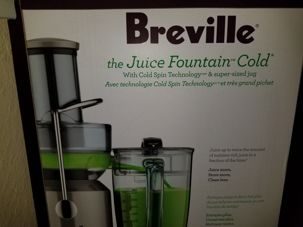 Breville Juicer Juice Fountain Brand New Never Used