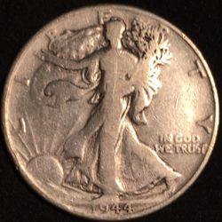 Silver 1944 Walking Liberty Half Dollar  Thumbnail