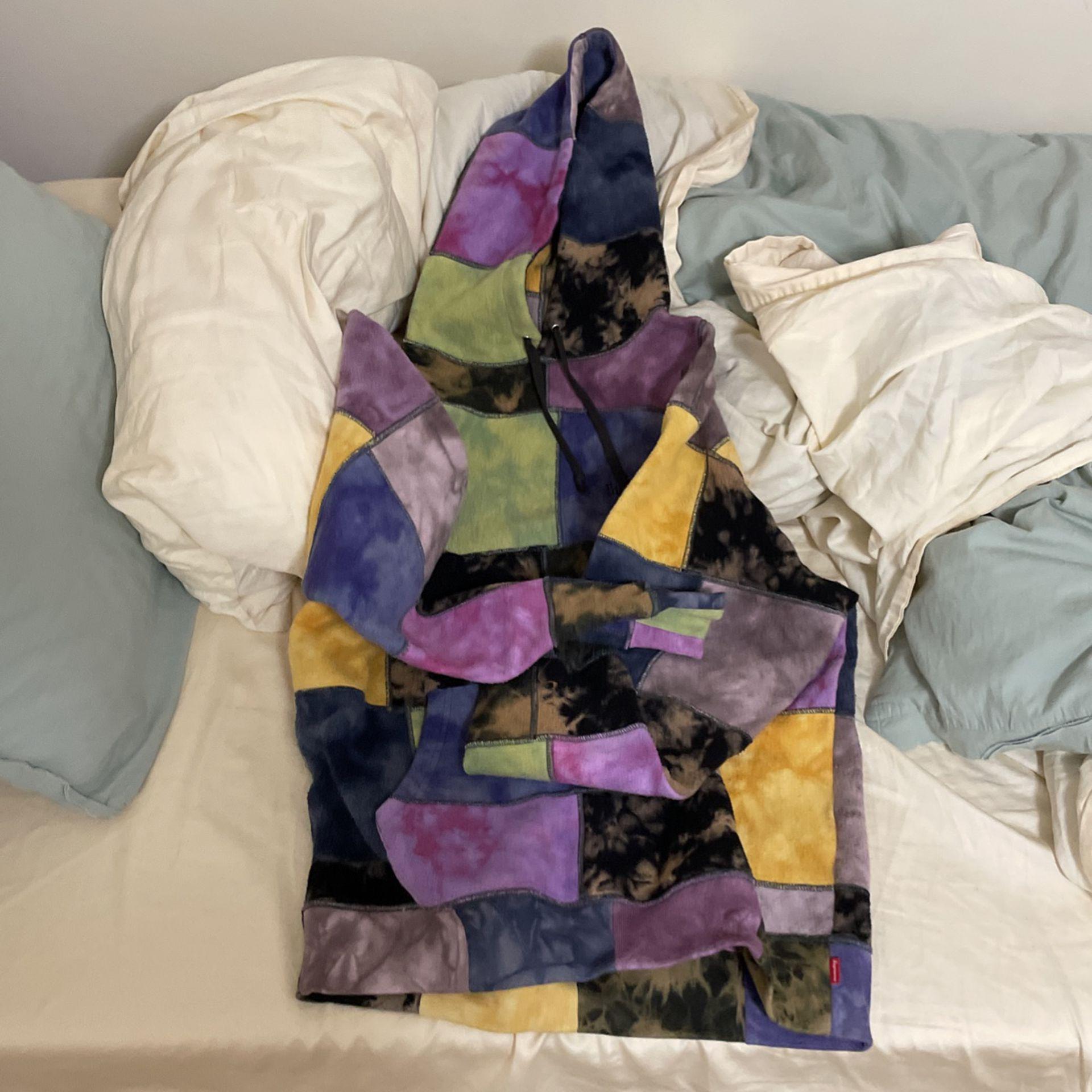Supreme Patchwork Tie Dye Hoodie