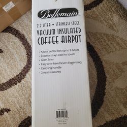 Bellemain 2.2 Liter Airpot Coffee Dispenser with Pump, Stainless Steel Vacuum Thumbnail