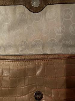 Michael Kors Leather Crocodile Embossed Hamilton Purse  Thumbnail