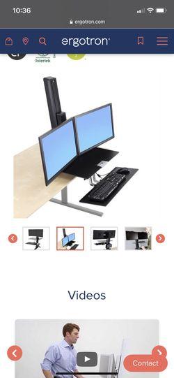 Ergotron Dual Monitor Sit/Stand Station Thumbnail