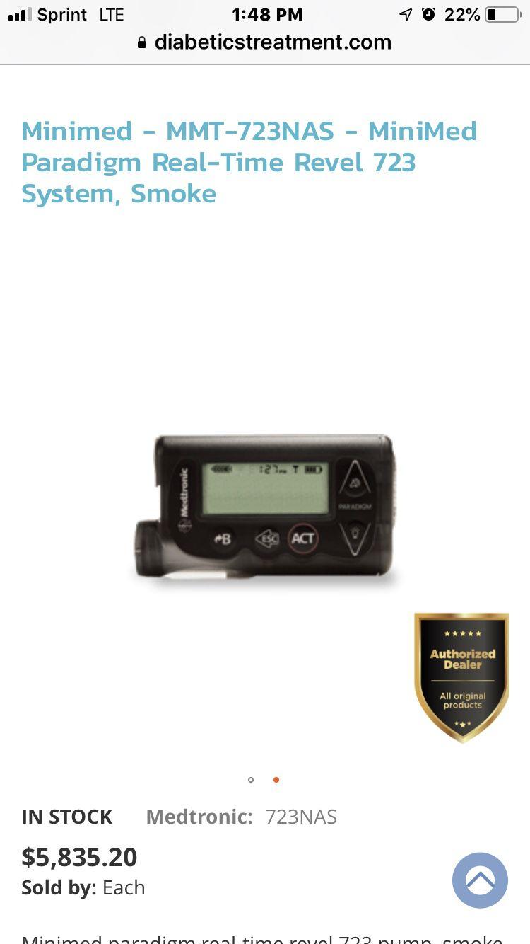 Paradigm real time revel insulin pump