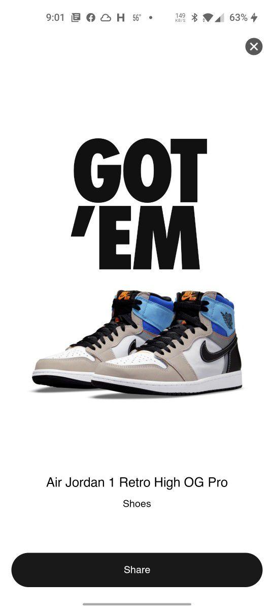 Air Jordan Retro 1 High Size 12 Men