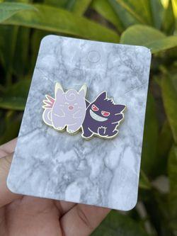 Gengar X  Clefairy Pokemon Pin Thumbnail