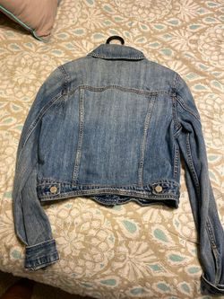American Eagle denim light blue jacket MEDIUM Thumbnail