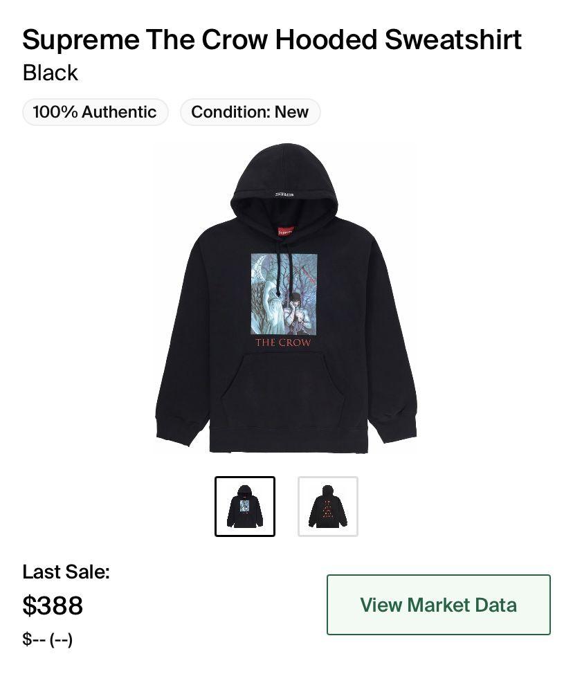 Supreme x The crow hoodie