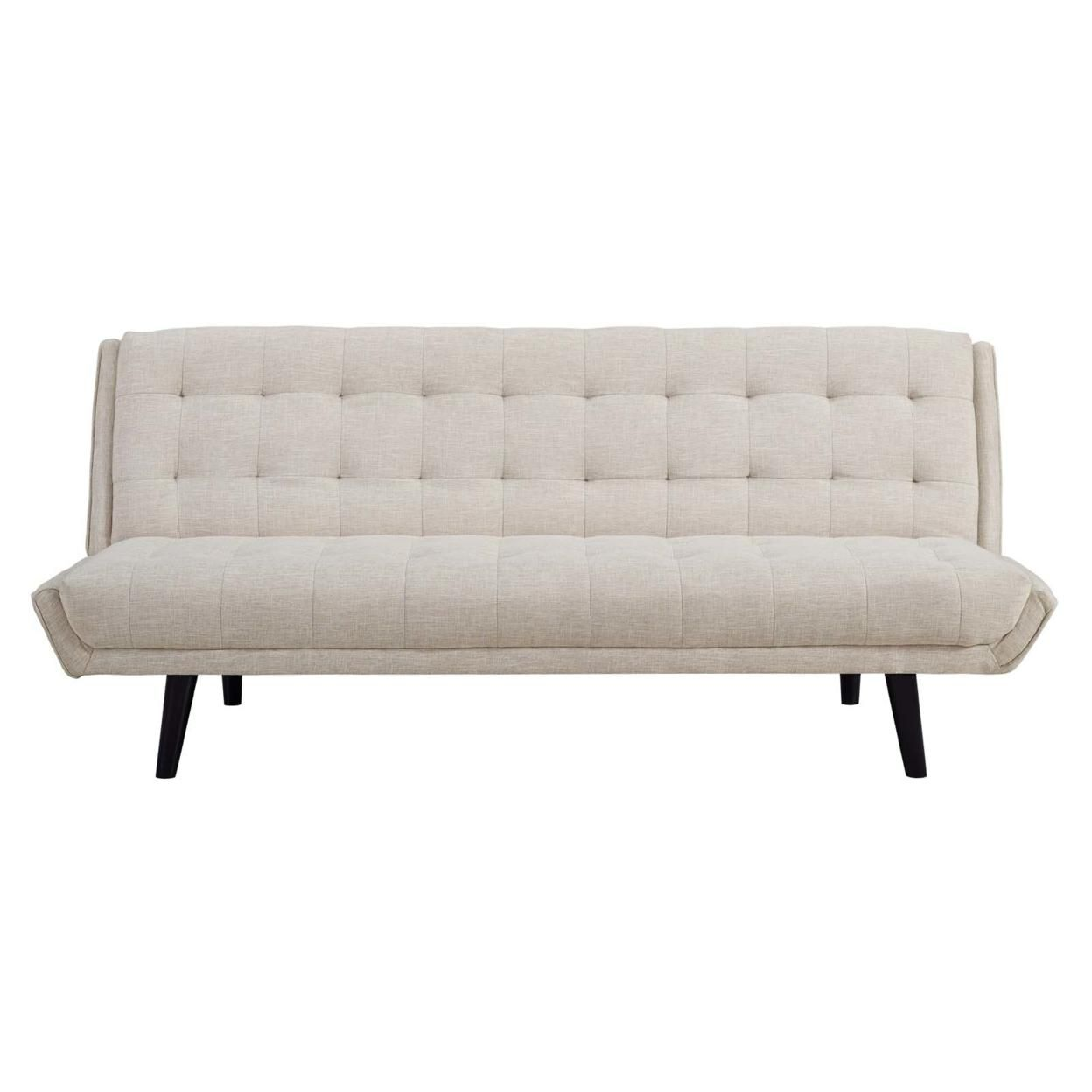 Glance Tufted Convertible Fabric Sofa Bed (3093-BEI)