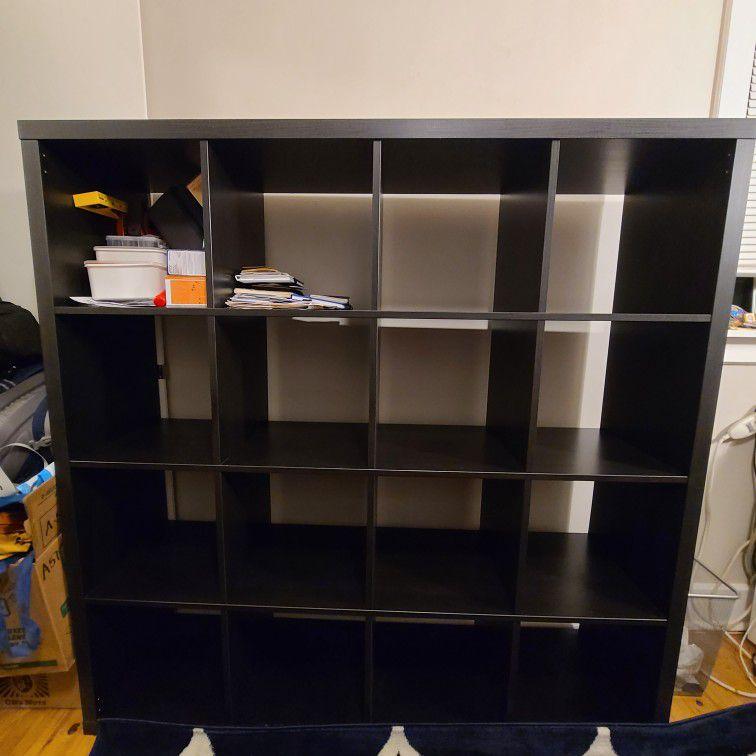 IKEA Kallax Storage Shelving - Black, 4x4