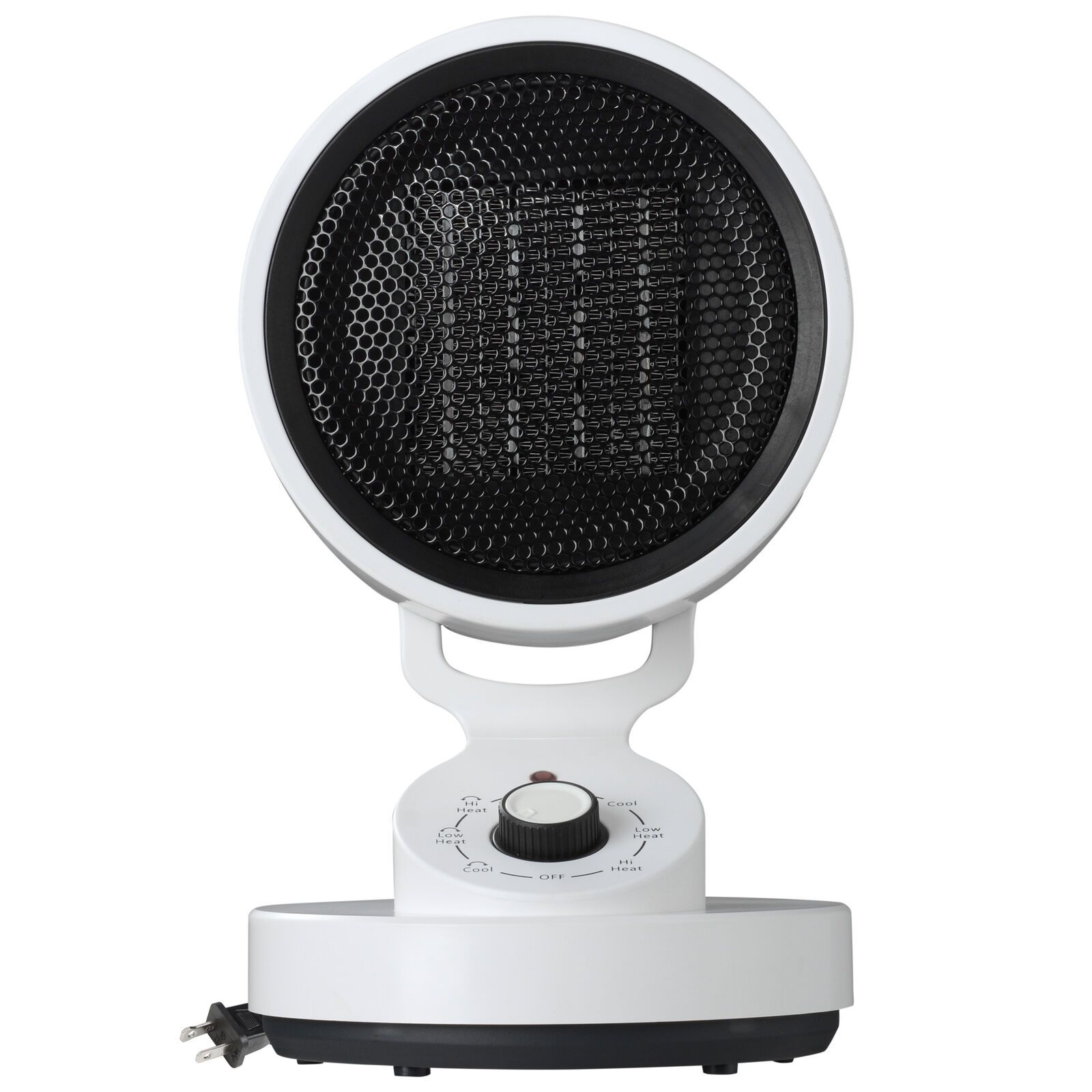 1500W Tabletop Portable Oscillating Ceramic Heater with Cooling Fan For Offices, Bedrooms, Classrooms, Basements