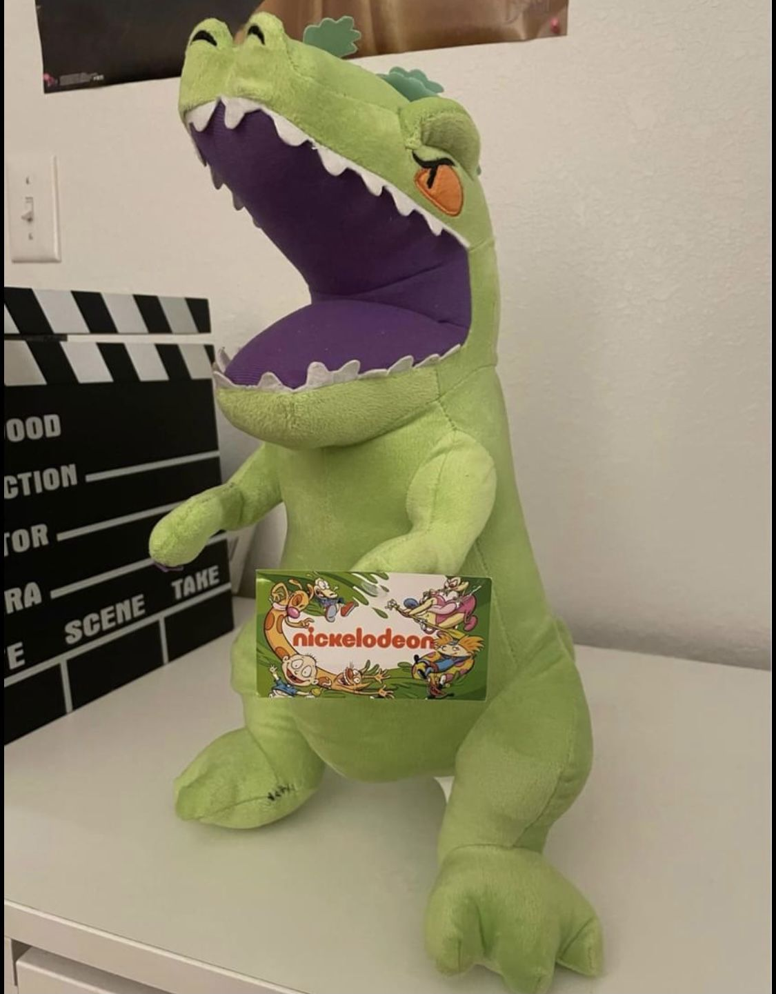 Green Reptar Plush Dinosaur Nickelodeon Animal Toy 90's RARE