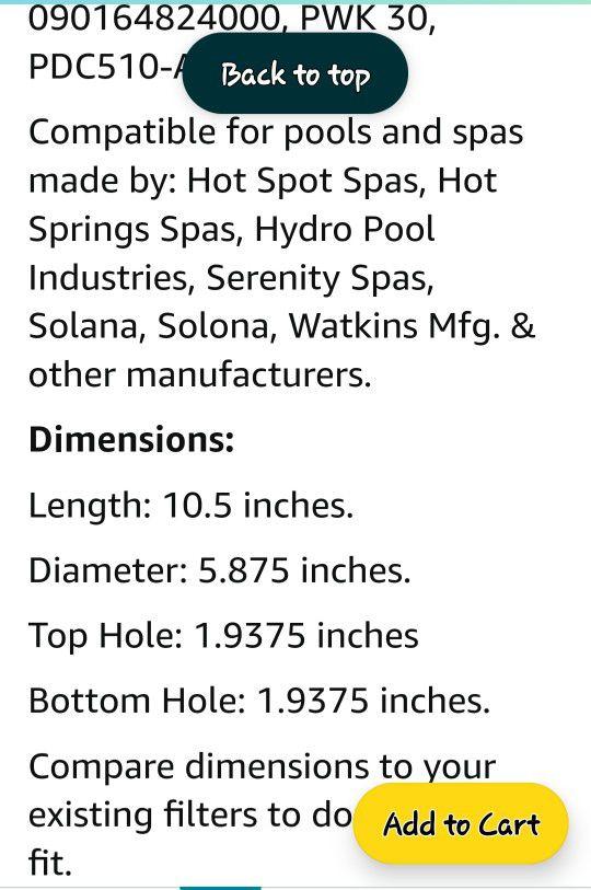 Hot Tub Filters 3pk