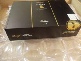 Black cigar box / slide / lid / like new ----////// container //// storage ---- box - boxes Thumbnail