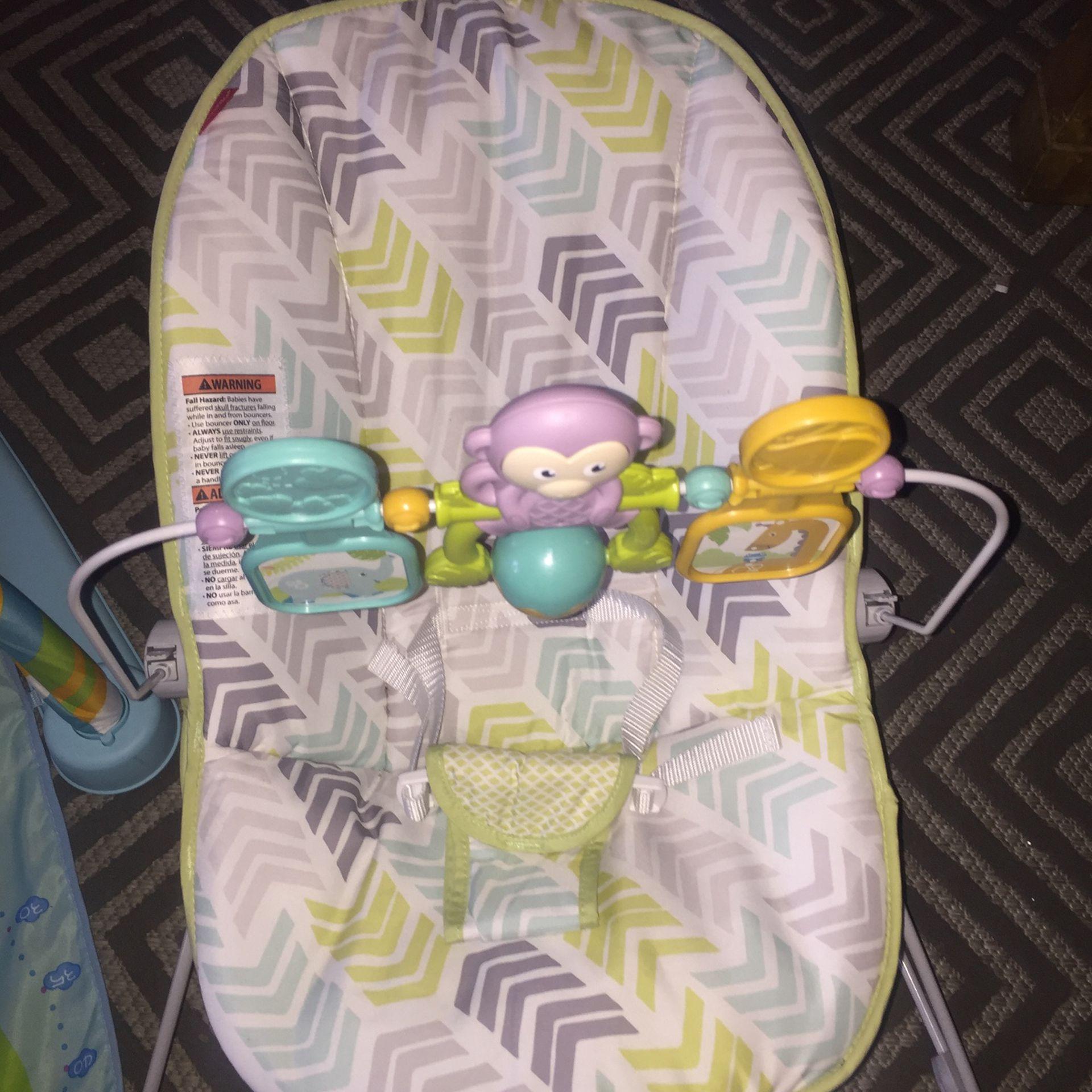 Baby Bouncer And Baby Tummy Kick & Play