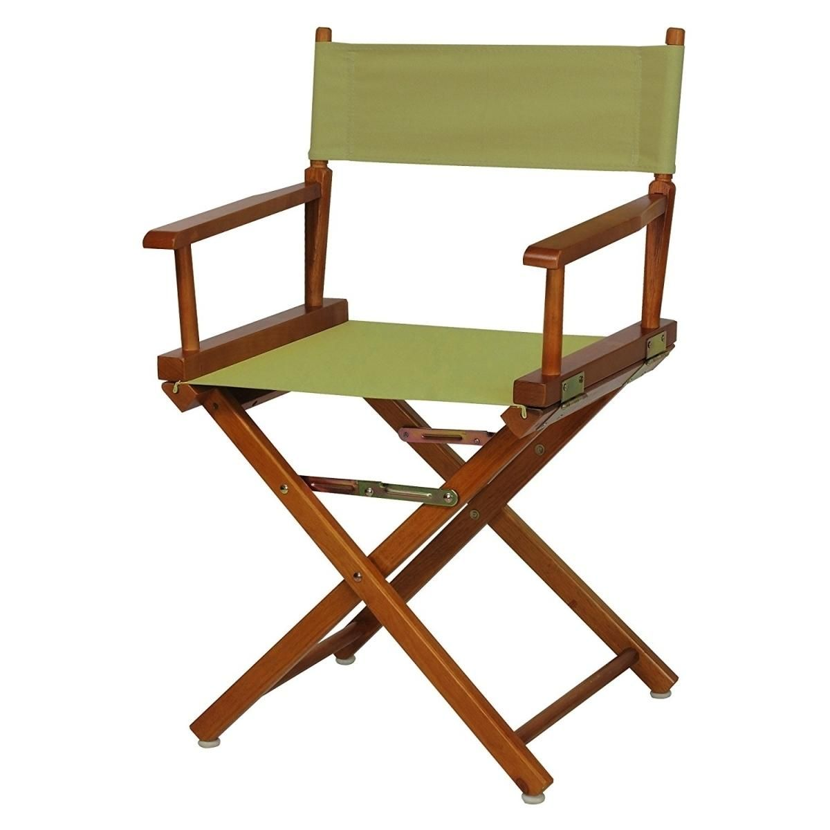 Casual Home 200-55-021-100 18 in. Directors Chair Honey Oak Frame with Olive Canvas
