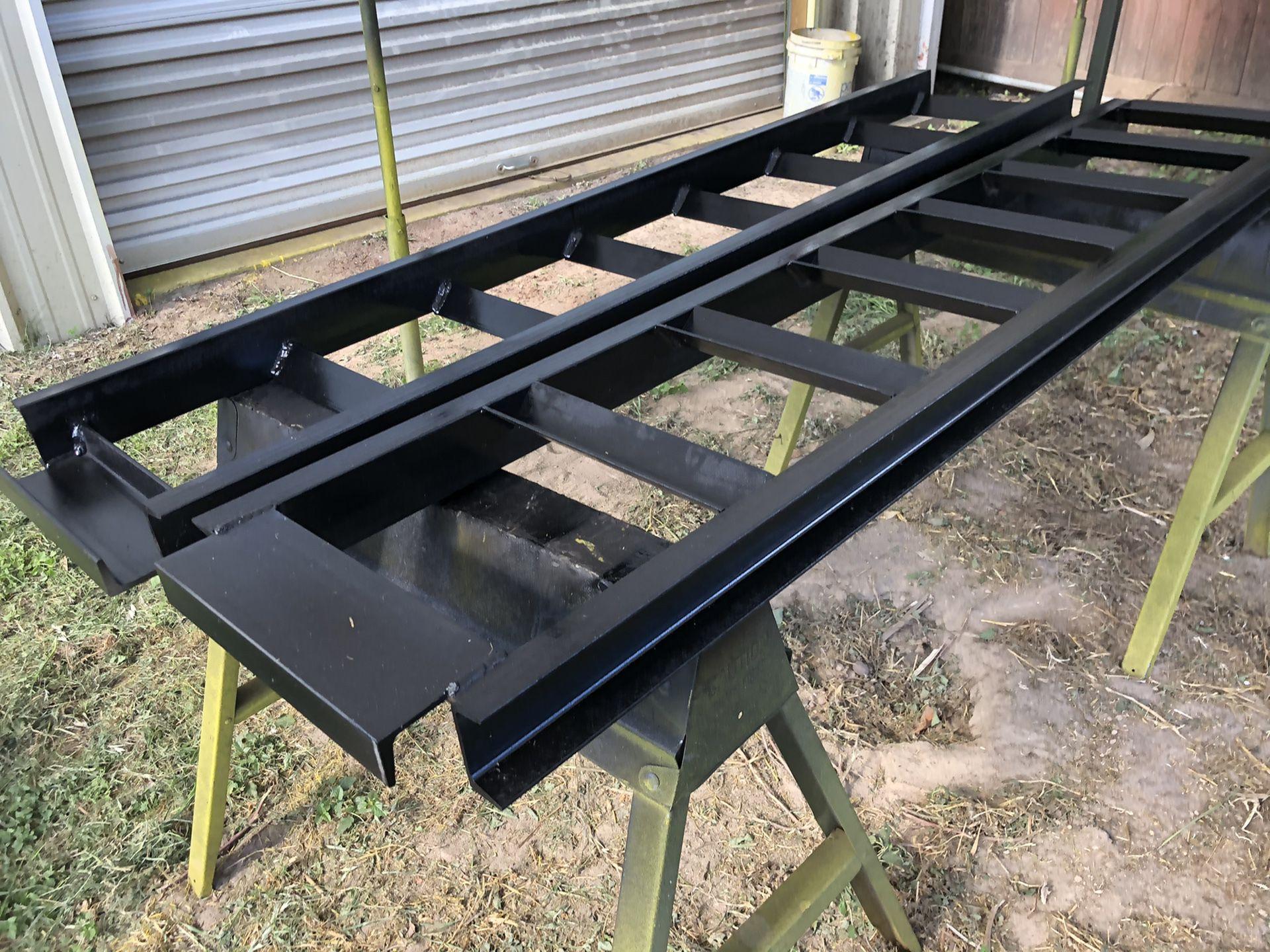 Pair Heavy-Duty Steel Loading Ramps for Hotshot/Flatbed/Gooseneck Trailer