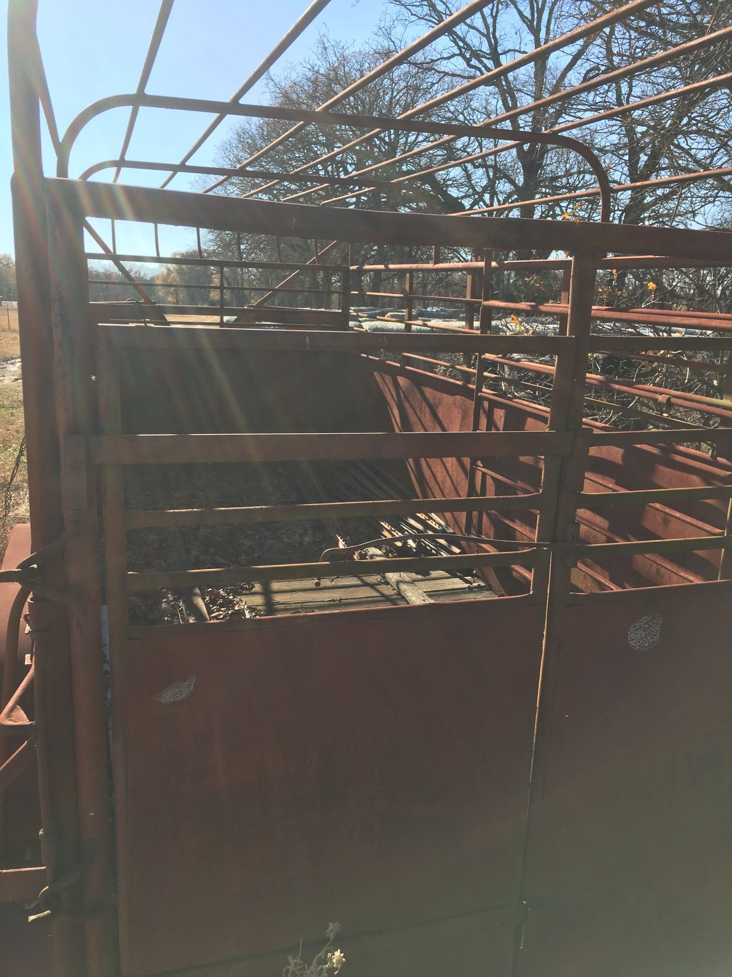 Solid steel gooseneck cattle trailer. $3500 obo