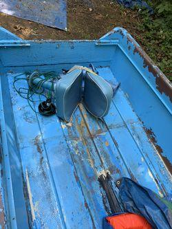Johnson Outboard 2hp AND BOAT Thumbnail