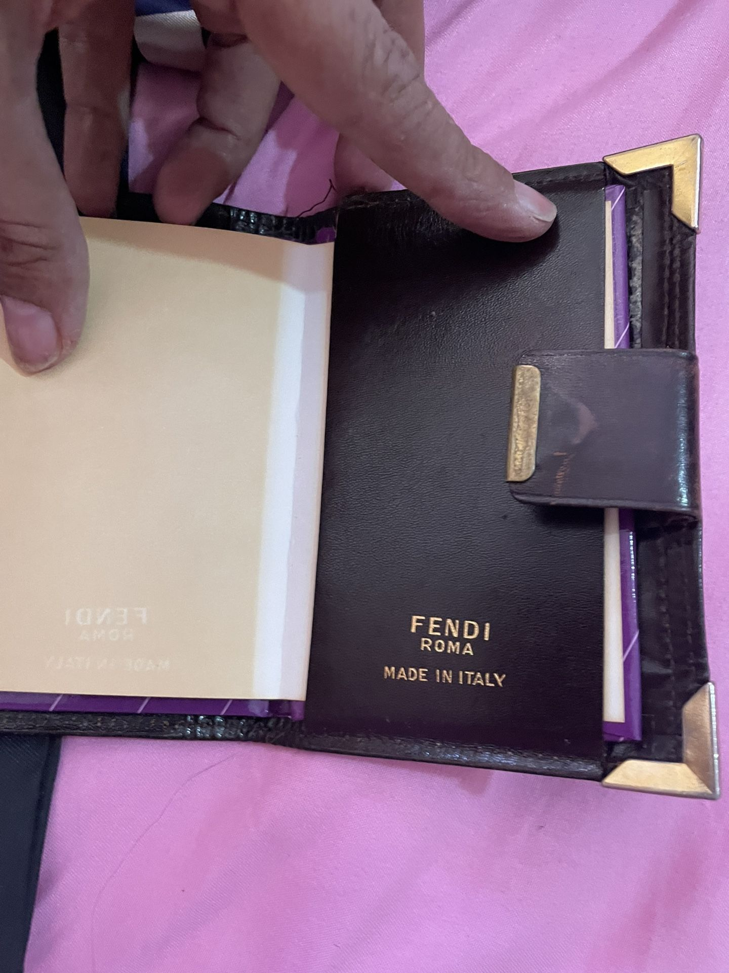 Vintage Fendi make up bag an address book
