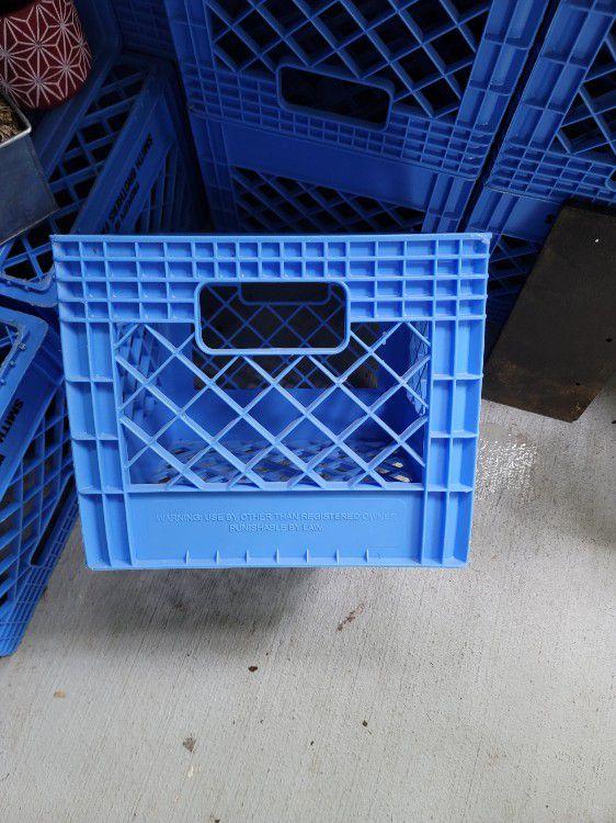 Milk Crate For Crafts Etc...
