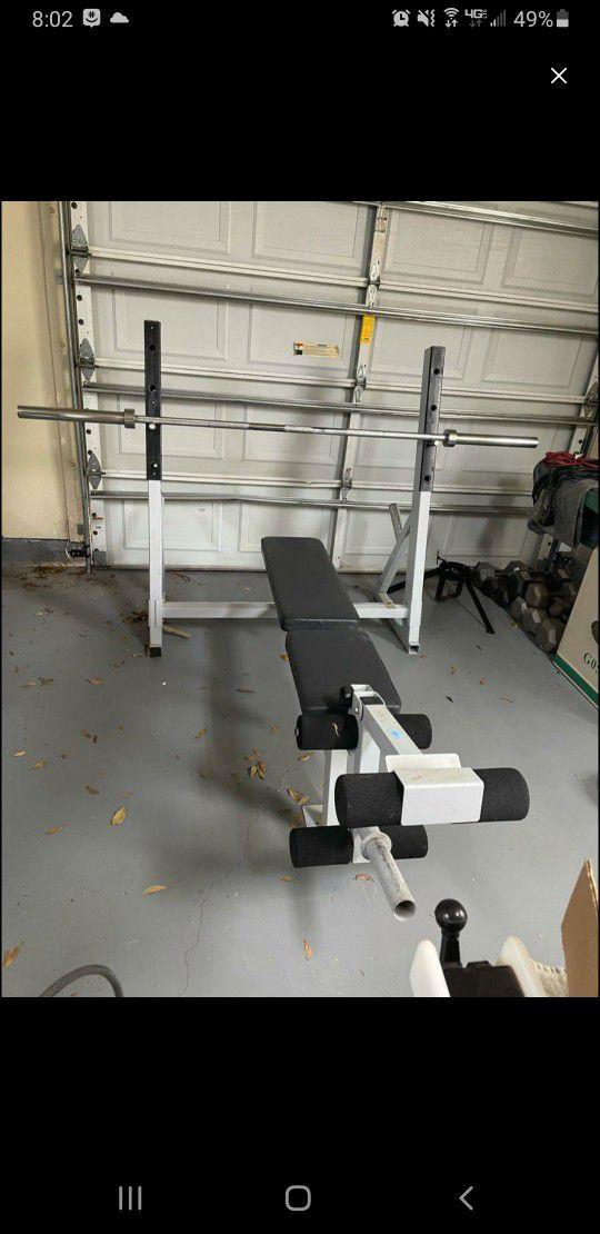 Olympic Bench Press w/ Olympic Bar & +300lbs