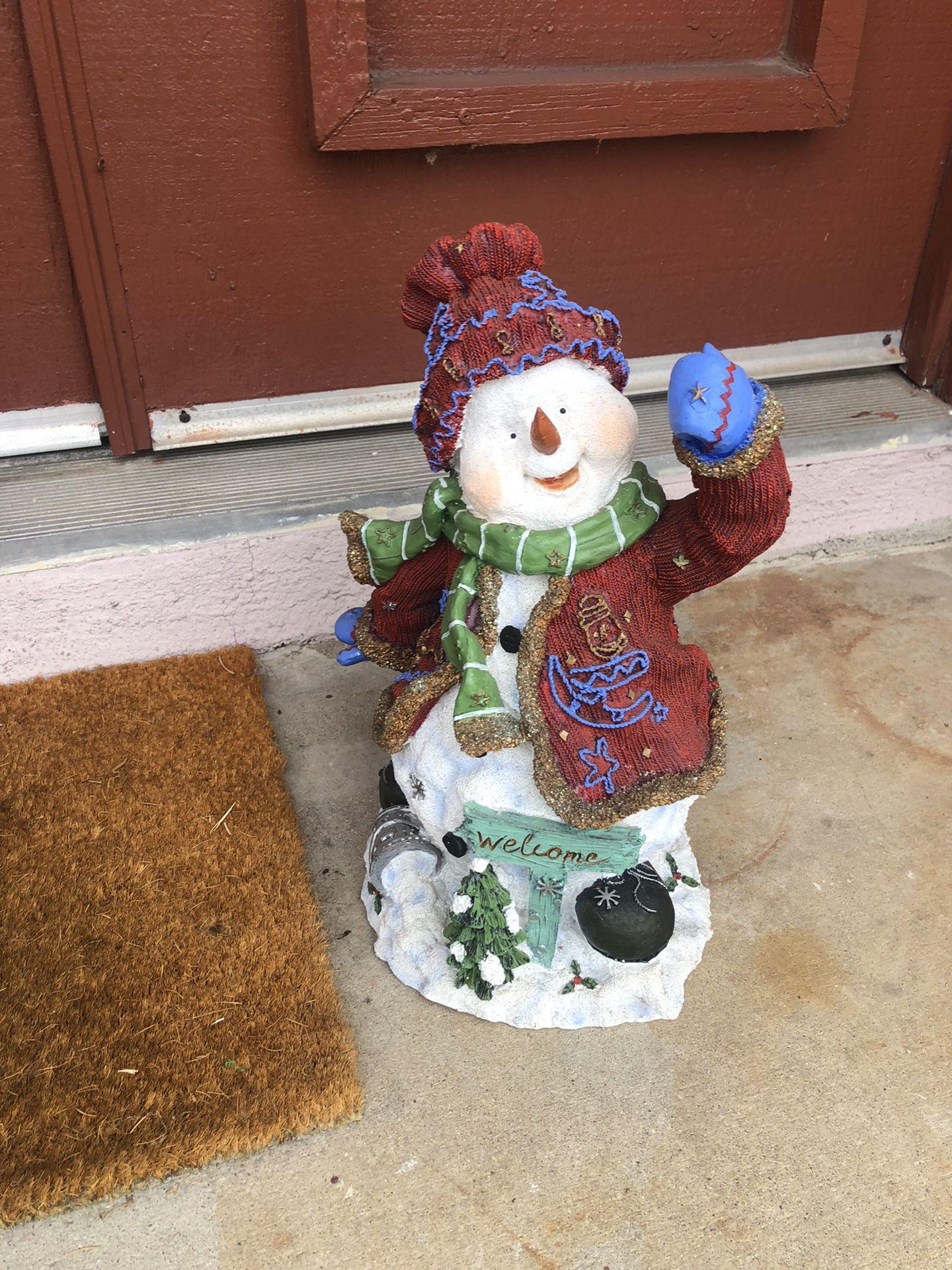 Christmas Welcome Snowman