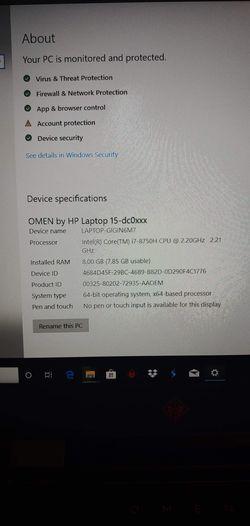 HP Oman i7 8750 laptop Thumbnail