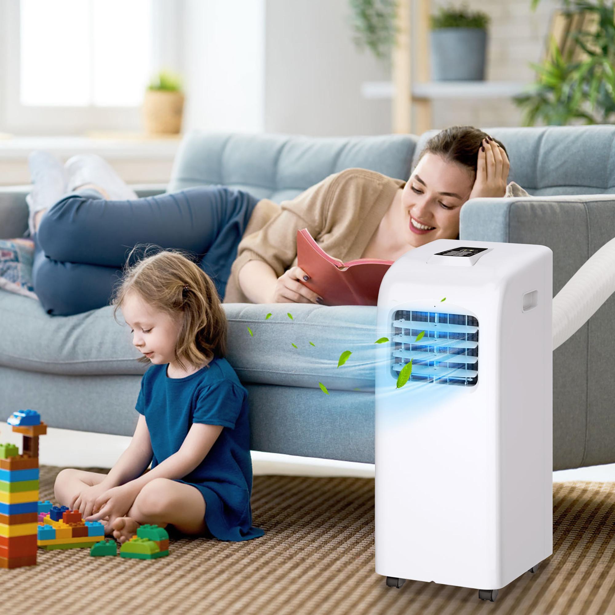 Costway 8000 BTU Portable Air Conditioner & Dehumidifier Function Remote W/ Window Kit