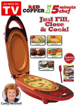 Red copper 5 minute chef electric meal maker Thumbnail