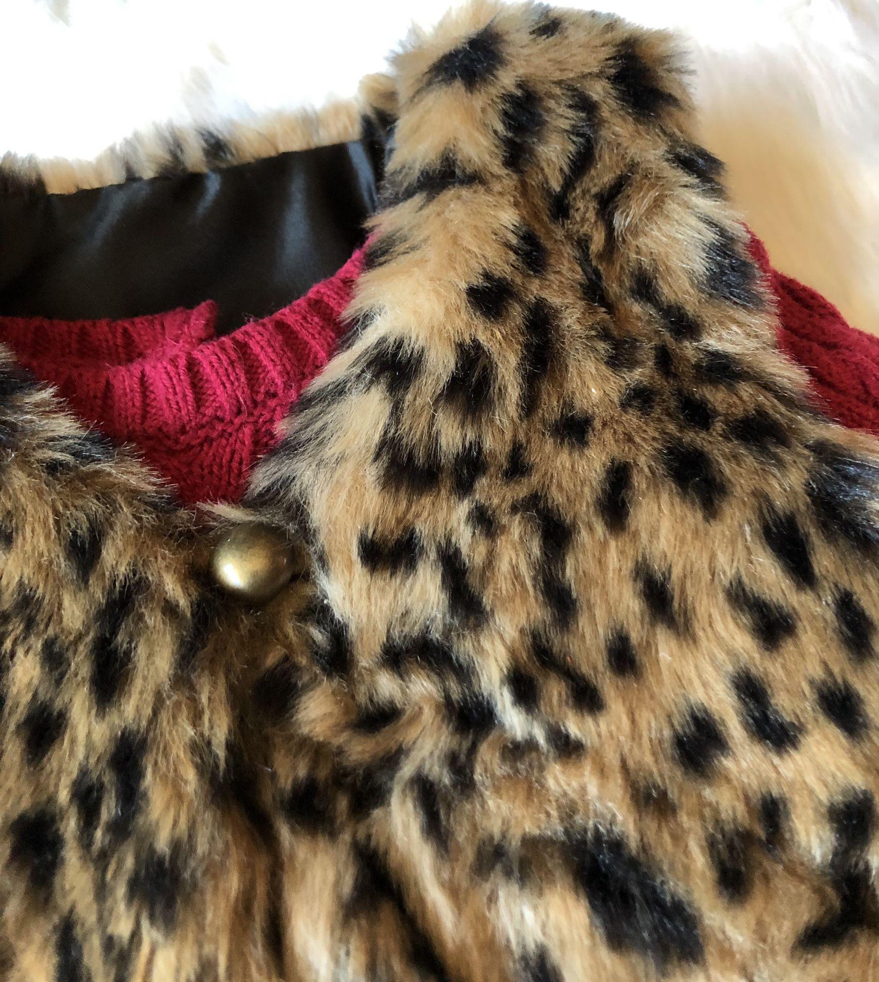 Catherine Malandrino Sweater Dress w/ Faux Fur Vest *24 Months