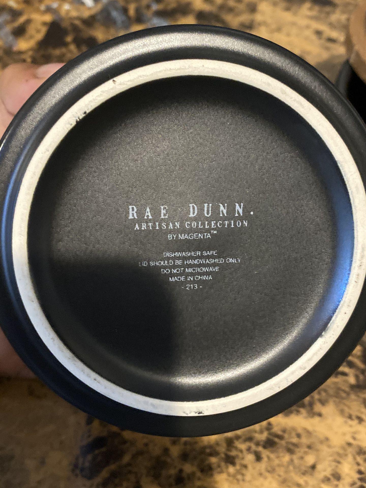 Rae Dunn Ceramic Spice Jar set with wood tops