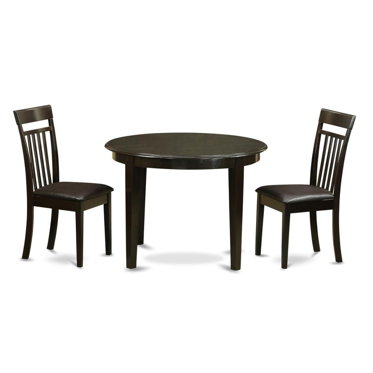 Small Kitchen Table & 2 Dinette Chairs, Cappuccino