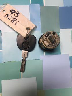 OEM 1993 BMW 528i Key And Tumbler Set Thumbnail