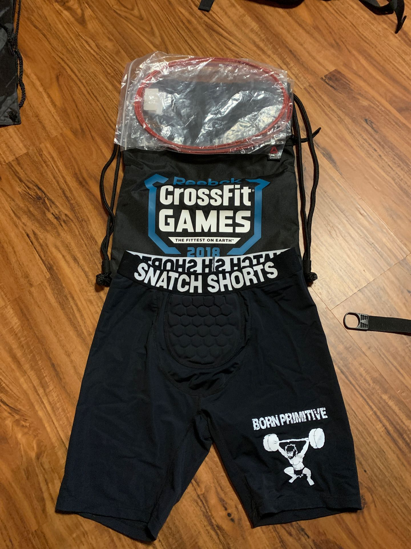 CrossFit Equipment - Snatch shorts, 2018 Games Bag, Speed Rope replacements