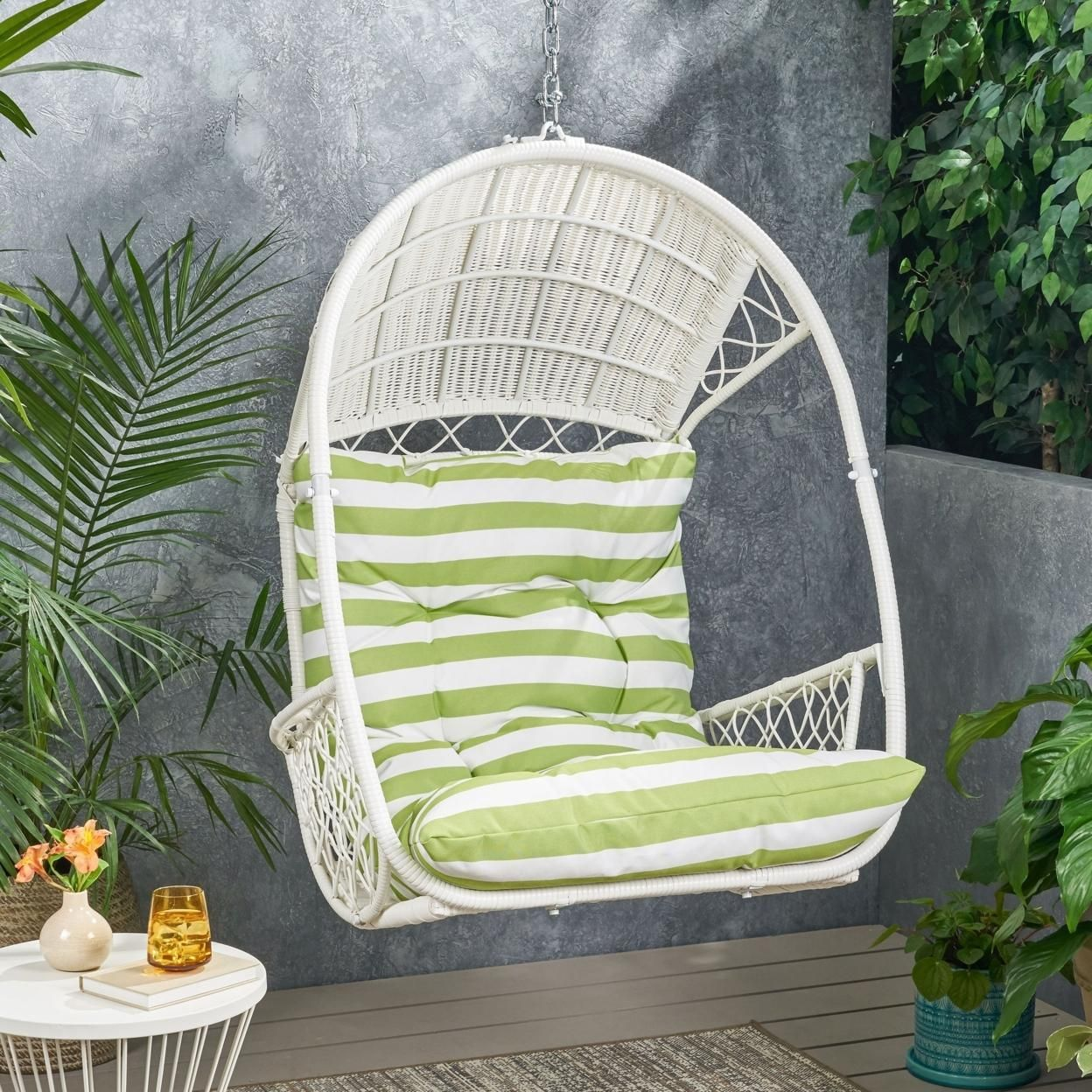 Primo Wicker Hanging Basket Chair (No Stand)