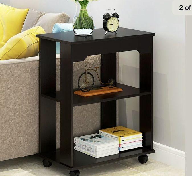 3-Tier Storage Locker Bedroom Night Table Sofa Coffee Table Modern End Table