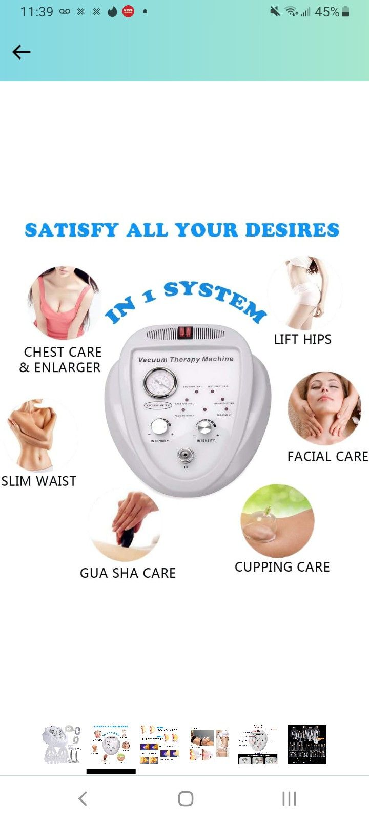 Brand NEW Danyili Vacuum Therapy Massager,Professional Pump Machine