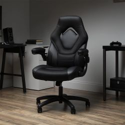 OFM ESS3085V2BLK Essentials Collection Racing Style Gaming Chair - Black Thumbnail
